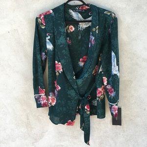 New Zara Wrap Blouse